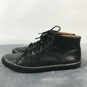 Coach Pete Men's Black Leather High Top Sneakers
